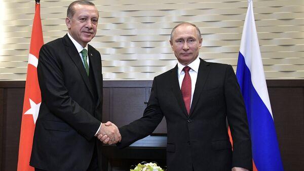 El presidente de Rusia, Vladímir Putin, y su homólogo turco, Recep Tayyip Erdogan - Sputnik Mundo