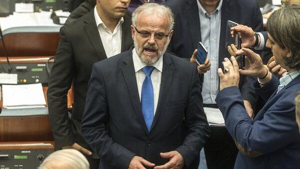 Talat Xhaferi, presidente del parlamento de Macedonia - Sputnik Mundo