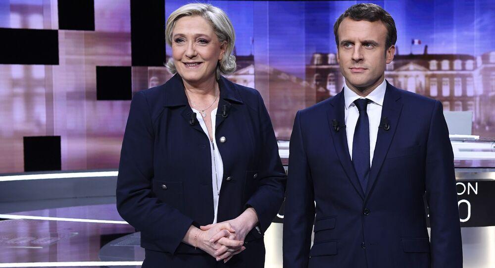 Marine Le Pen y Emmanuel Macron, candidatos a la presidencia de Francia