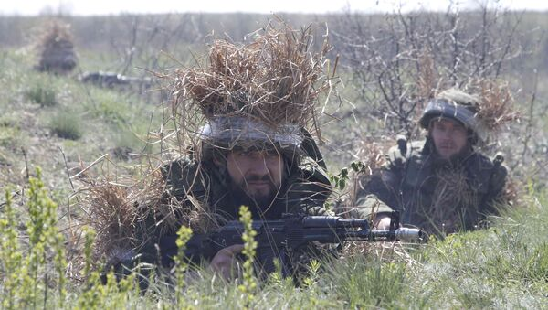 Soldados en Ucrania - Sputnik Mundo