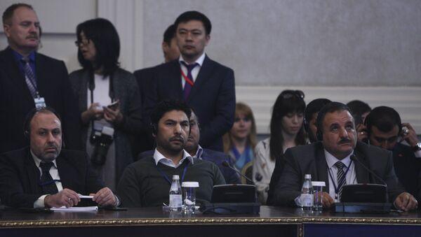 Osama Abu Zeid, portavoz de la delegación de la oposición siria en las consultas en Astaná - Sputnik Mundo