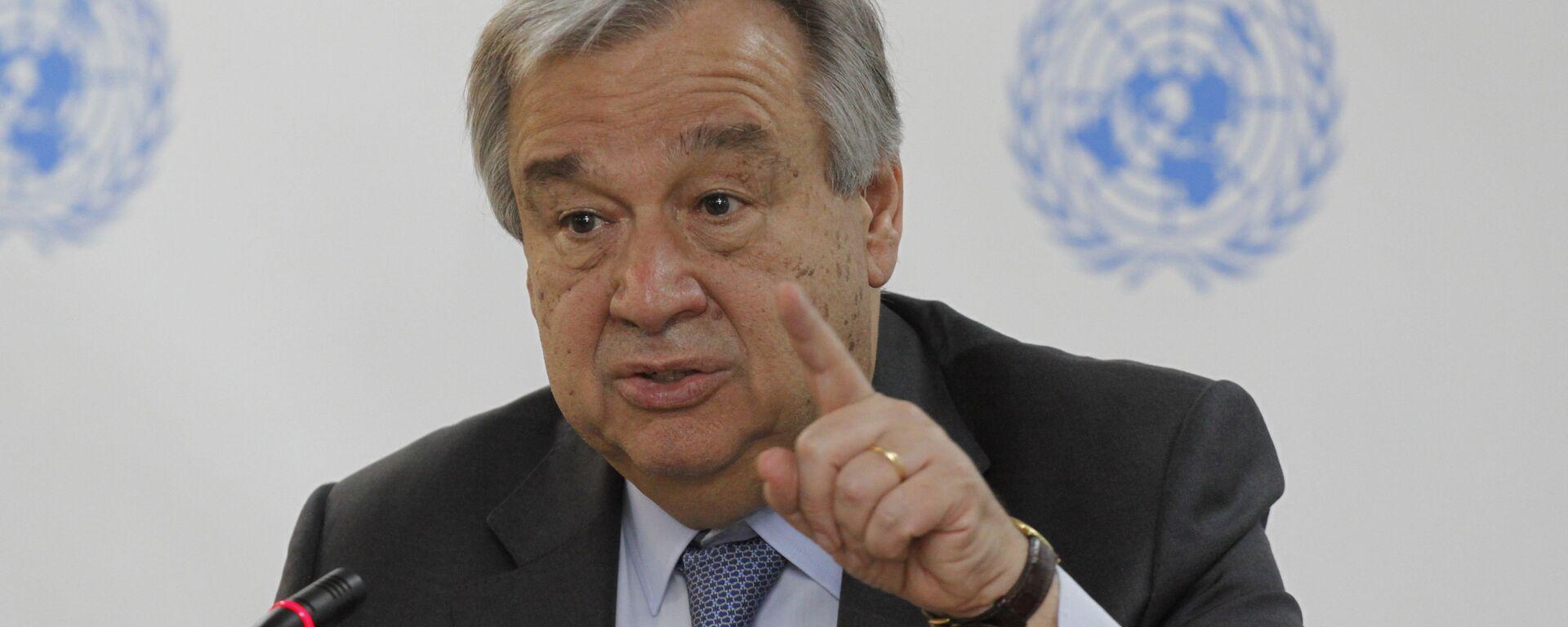 Secretario general de la ONU, Antonio Guterres - Sputnik Mundo, 1920, 21.06.2021