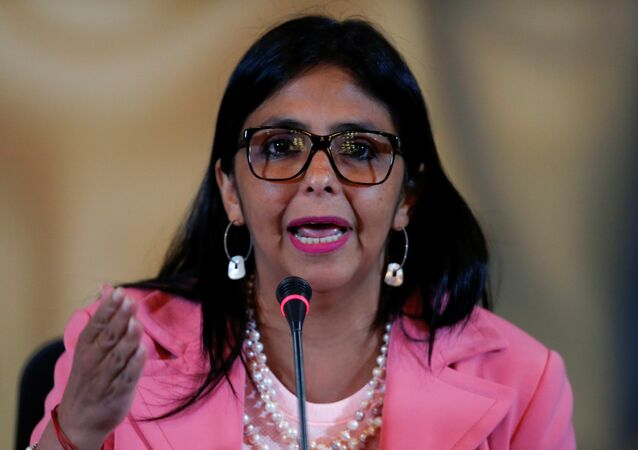 Delcy Rodríguez, vicepresidenta de Venezuela (archivo)
