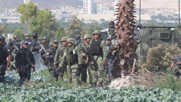 Militares mexicanos en el estado de Puebla - Sputnik Mundo