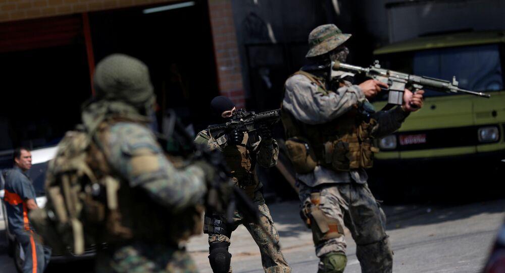 Policía brasileña en Río de Janeiro