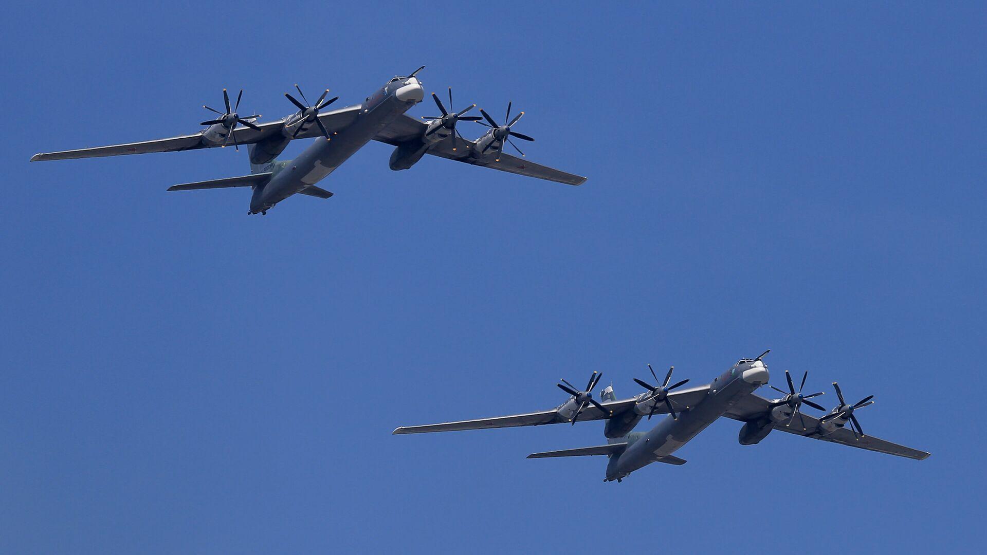 Bombarderos estratégicos rusos TU-95MS (imagen referencial) - Sputnik Mundo, 1920, 11.03.2021