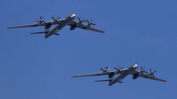 Bombarderos estratégicos Tu-95MS (archivo) - Sputnik Mundo