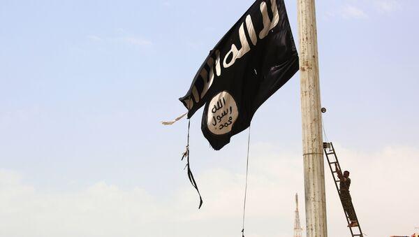 La bandera de Daesh en Siria (archivo) - Sputnik Mundo