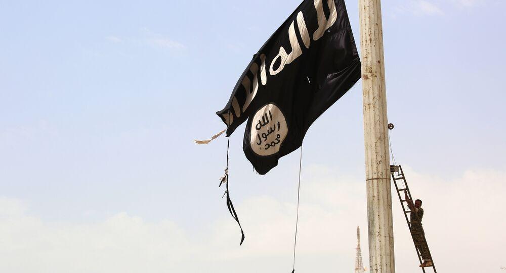 La bandera de Daesh (archivo)