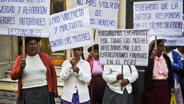 Protesta de mujeres indígenas - Sputnik Mundo