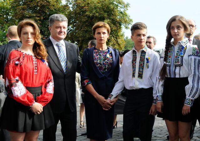 Petró Poroshenko con su familia