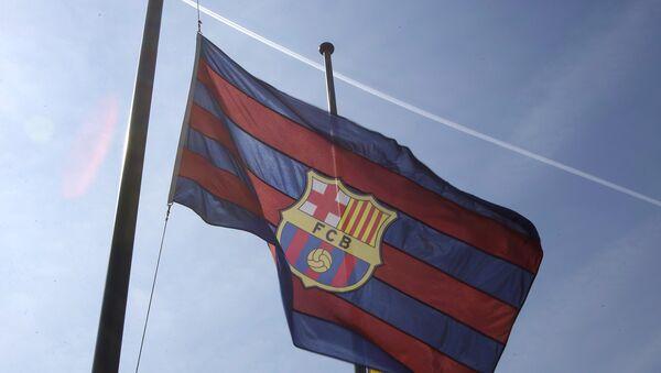 Banderas de F.C. Barcelona y de Cataluña - Sputnik Mundo