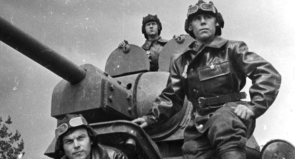 Soldados soviéticos durante la Gran Guerra Patria