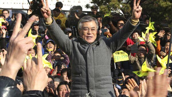 Moon Jae-in, candidato del Partido Demócrata a la presidencia surcoreana - Sputnik Mundo