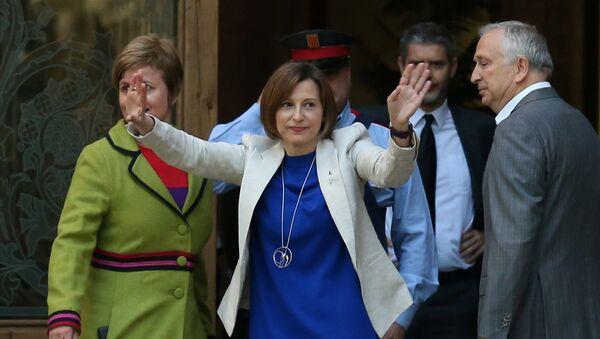 Carme Forcadell, presidenta del Parlamento catalán,llega al Tribunal Superior de Justicia de Cataluña - Sputnik Mundo