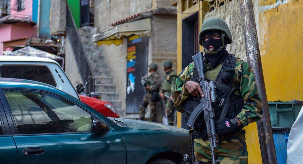 Guardia Nacional Bolivariana en en la favela Cota 905 (archivo)
