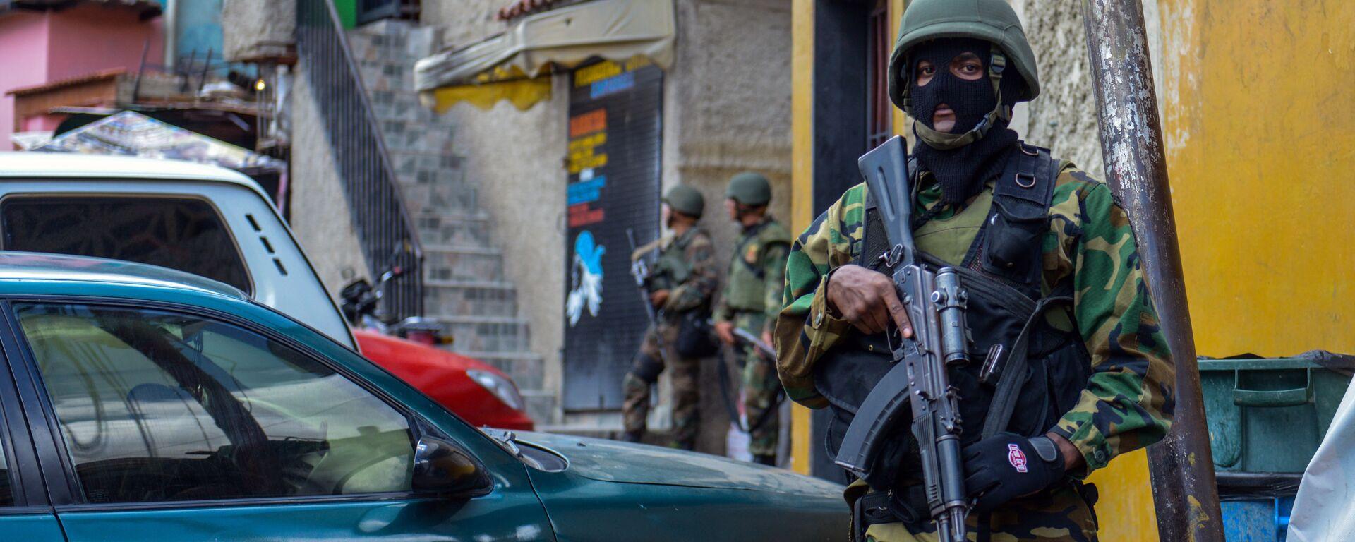 Guardia Nacional Bolivariana en en la favela Cota 905 (archivo) - Sputnik Mundo, 1920, 09.07.2021
