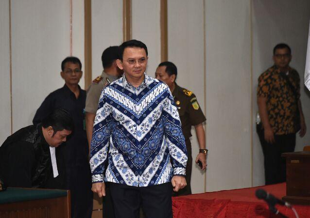 Basuki 'Ahok' Thahaja Purnama, primer gobernador cristiano de la capital indonesia en más de medio siglo