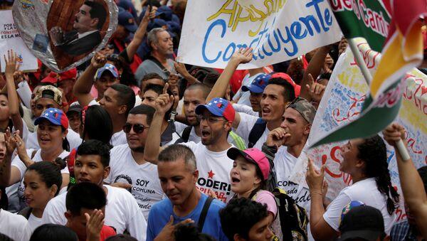 Partidarios del gobierno venezolano - Sputnik Mundo