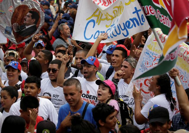 Partidarios del gobierno venezolano