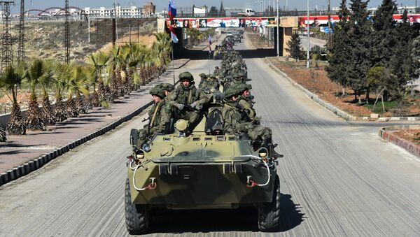 El envío de ingenieros militares de las Fuerzas Armadas rusas de Alepo - Sputnik Mundo