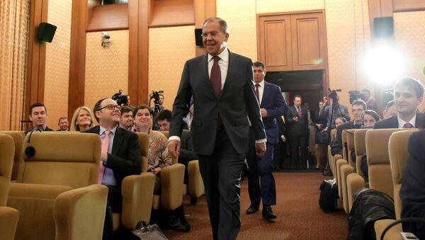 Serguéi Lavrov durante su visita a Washington - Sputnik Mundo