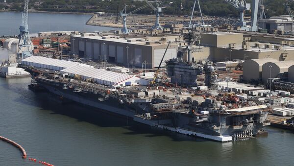 El portaviones estadounidense USS Abraham Lincoln - Sputnik Mundo