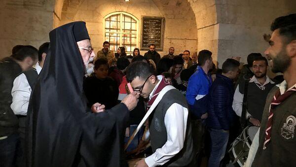 La misa de Pascua en Siria - Sputnik Mundo