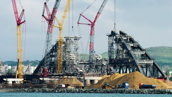 Construcción de puente de Crimea - Sputnik Mundo