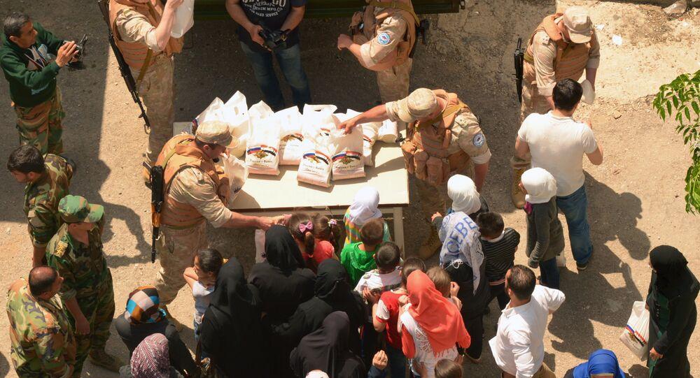 Ayuda humanitaria rusa para Latakia (archivo)