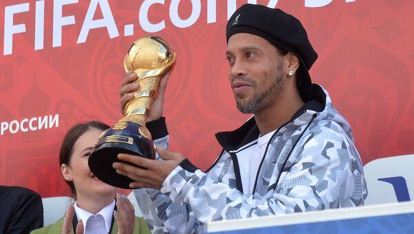 Ronaldinho inaugura el parque de la Copa Confederaciones 2017 en la ciudad rusa de Kazán - Sputnik Mundo