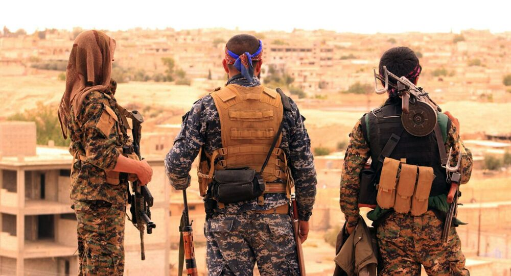 Los combatientes de las Fuerzas Democráticas de Siria (archivo)