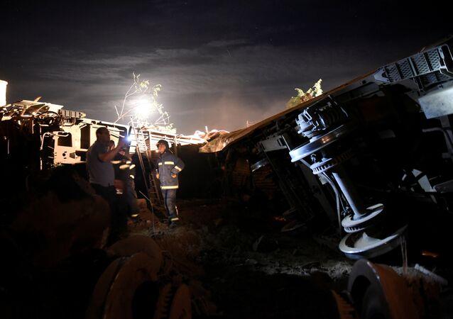 Descarrilamiento del tren en Grecia