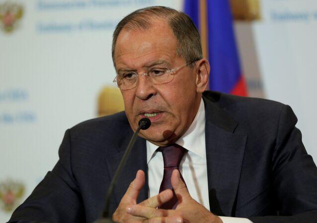 Serguéi Lavrov durante su visita a Washington