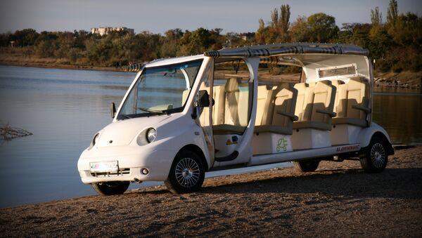 'Dilizhans', el autobús eléctrico fabricado por la empresa rusa ELGO en Crimea - Sputnik Mundo