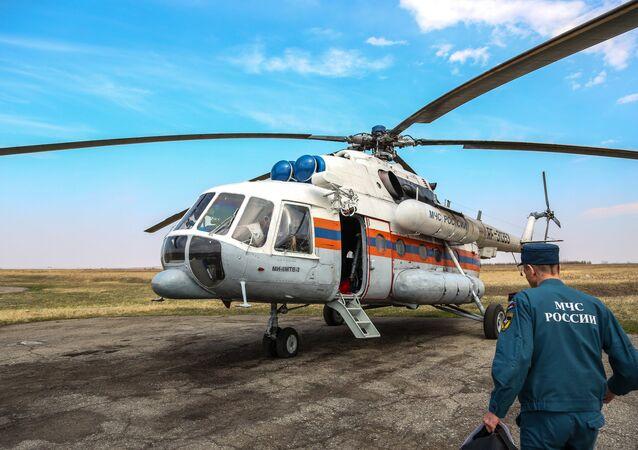 Helicóptero Mi-8 del Ministerio de Emergencias ruso (archivo)