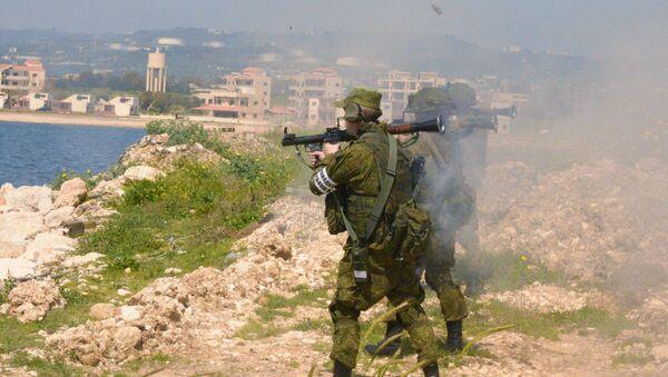 Las maniobras ruso-sirias en la base de Tartus (archivo) - Sputnik Mundo