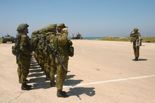 Maniobras militares conjuntas de Rusia y de Siria en Tartus - Sputnik Mundo