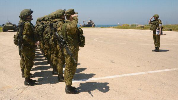 Militares rusos en la base naval Tartus en Siria - Sputnik Mundo