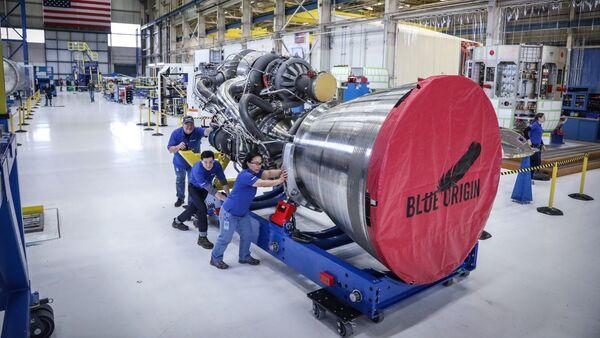 Uno de los propulsores BE-4 de Blue Origin - Sputnik Mundo