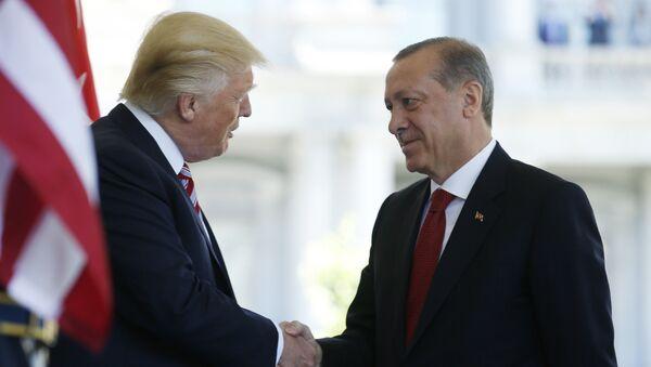 Donald Trump se encuentra con Recep Erdogan en Washington - Sputnik Mundo