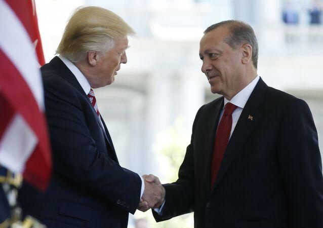 Donald Trump se encuentra con Recep Erdogan en Washington