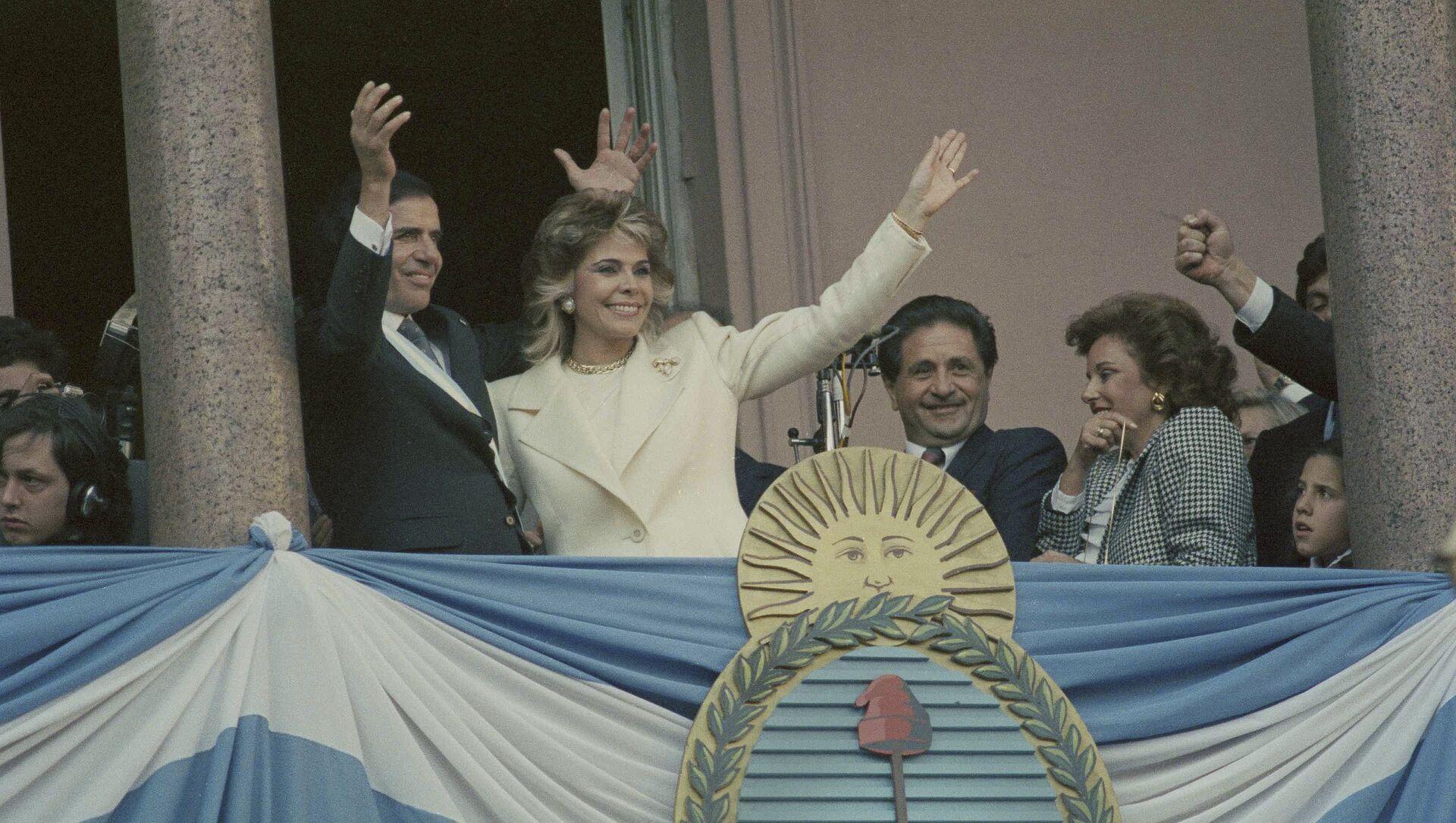 Carlos Menem, expresidente de Argentina y su exesposa, Zulema Yoma (archivo) - Sputnik Mundo, 1920, 09.07.2019