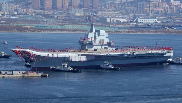 El segundo portaviones de la Armada de China, el Type 001A - Sputnik Mundo
