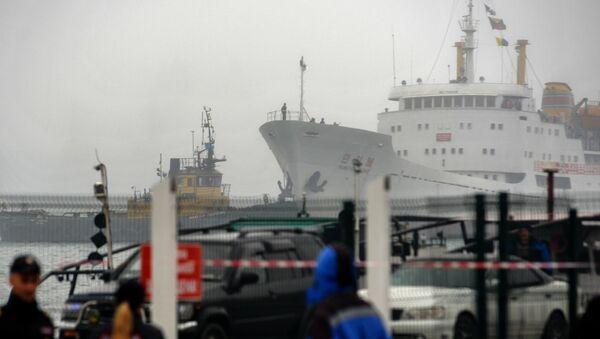 Primer ferri de la ruta marítima Rajin-Vladivostok (archivo) - Sputnik Mundo