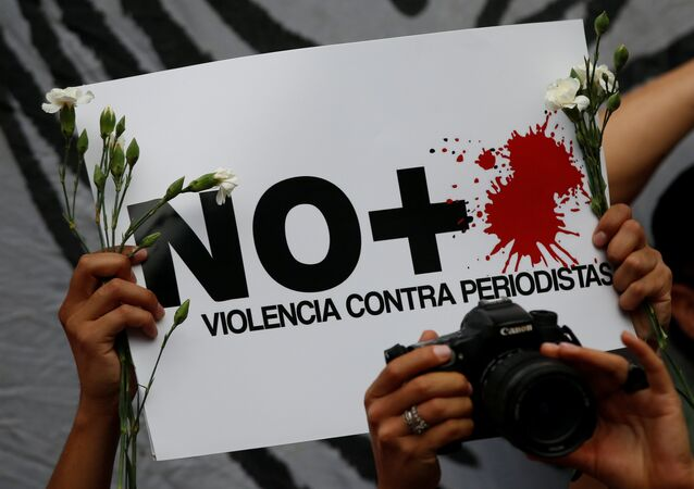 Protesta contra violencia contra periodistas en México
