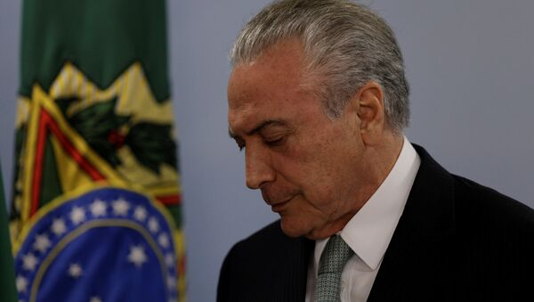 Michel Temer, expresidente de Brasil - Sputnik Mundo