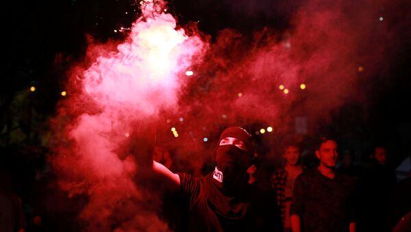 Protesta en Brasil contra el presidnte de país, Michel Temer - Sputnik Mundo