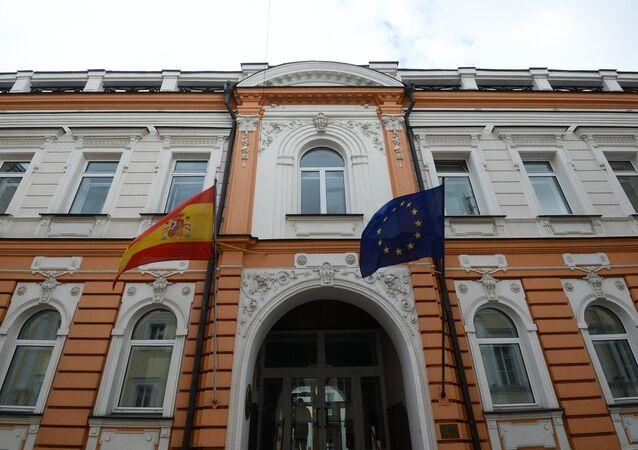 El edificio de la Embajada de España en Moscú