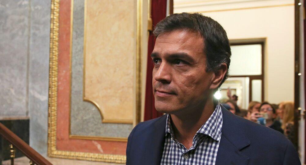Pedro Sánchez, ex líder del PSOE